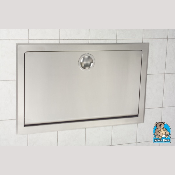 Kb110ssre Stainless Steel Clad Horizontal Baby Changing Station Wall Recess Mounted
