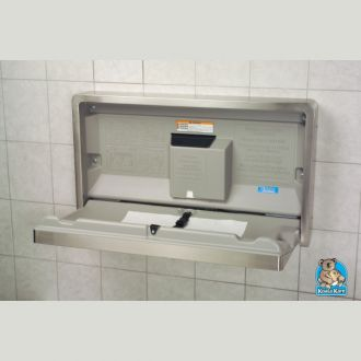 KBSSWM Stainless Steel Clad Horizontal Baby Changing Station - Koala baby change table